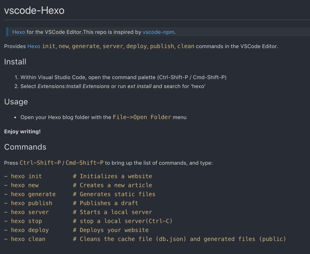 hexo-info